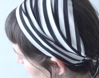 Tie headband, cotton headband, Women head band, hair wrap, Adult head wrap