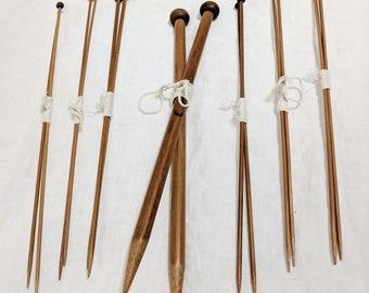 Wooden Knitting Needles 7 Pairs
