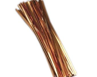 100pcs Metallic Gold Twist Ties (item: 75-0531)
