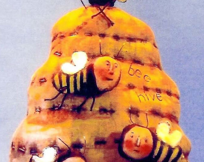 SE710 - Bee Hive  Fabric Pattern,  Sewing Cloth Doll Pattern - PDF Download by Susan Barmore