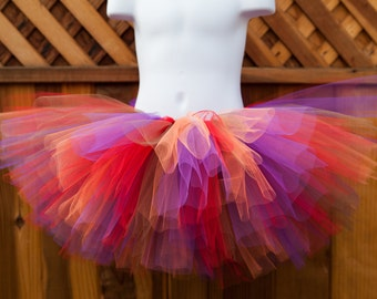 Fall Tutu/Red, Orange, Purple and Brown Tutu/Thanksgiving Tutu - Other Colors Available