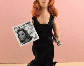 Julie London Doll Miniature Famous Singer Fan Art Character