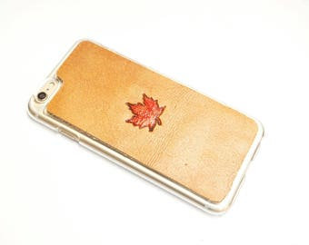 Leather Galaxy Note 8 Case   Maple Leaf