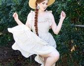 Flounce Around Dress - Love Heart Print - One of a kind!