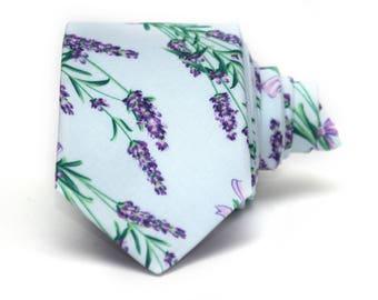 Mens Necktie Lilac purple floral mens Tie Men's tie Wedding Ties Necktie for Men 289tc GIFT BOX wedding ties