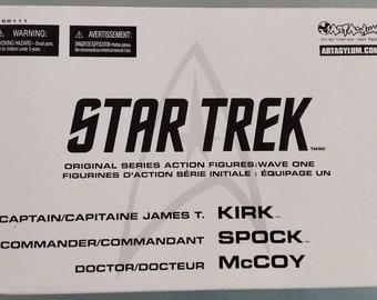Star Trek The Original Series Wave One Action Figures (Kirk, Spock, McCoy)