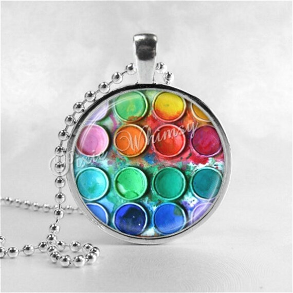 Artist necklace pendant art jewelry artist paints necklace zoom aloadofball Choice Image
