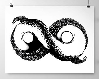 Infinity Tentacle Large Print (329mm x 483mm | 13 x 19inches)