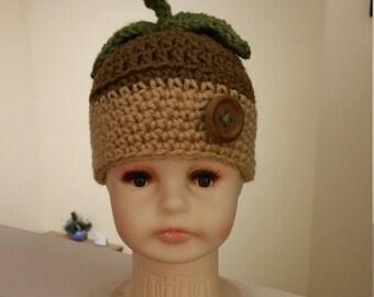 Crochet Acorn Baby Hat