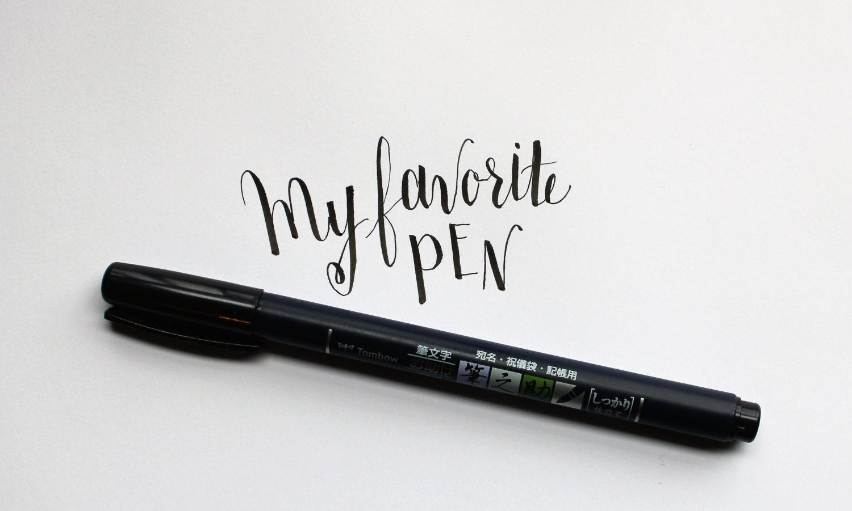 Tombow fudenosuke brush pen. calligraphy brush pen. great pen for