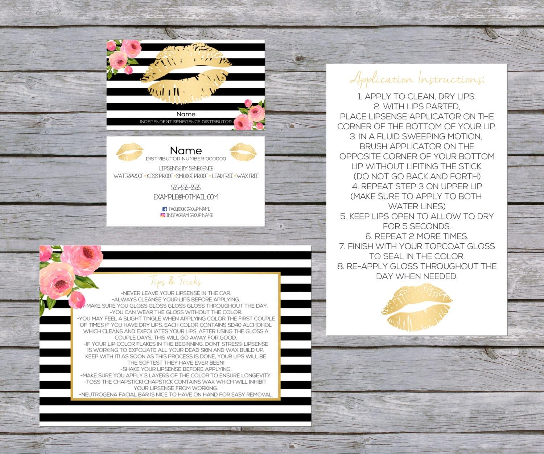 LipSense Business Card SenegGence Business Card Bundle