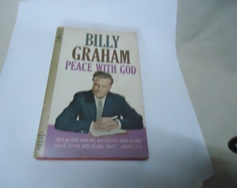 Vintage 1966 Billy Graham Peace With God Softback Book by Pocket Books, 25th printing, collectable