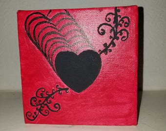 Keepsake art, Silhouette Heart. CindysZensations