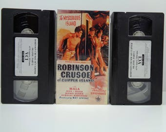 Robinson Crusoe of Clipper Island (VHS, 1990, 2-Tape Set)