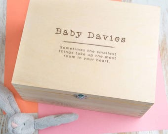 Baby Shower Gift Girl Personalized Box for Future Memories