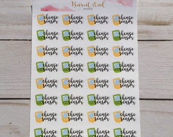 Change Sensor Planner Stickers