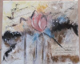 An enchanted flower. Original acrylic painting