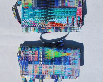 iPhone X 8/8Plus Android Cell Phone Purse Cross Body Shoulder Bags Zipper Pocket Multi Color Digital Batik
