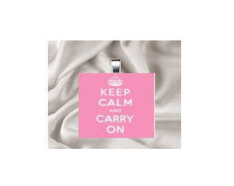 Pendant Necklace Keep Calm and Carry On