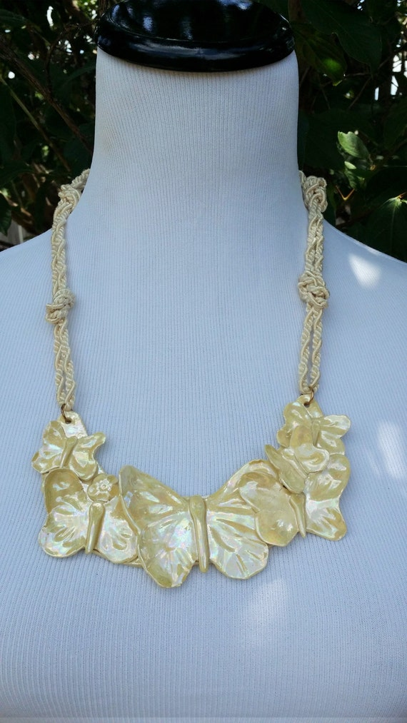 Vintage Ceramic Necklace LAYAWAY AVAILABLE