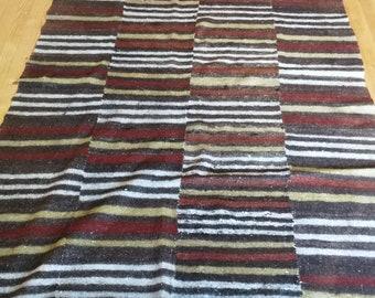 UNIQUE VINTAGE Bulgarian Folk Wool Rug / Folklore Carpet / Authentic Woven Wool 2.50x1.60=4.00