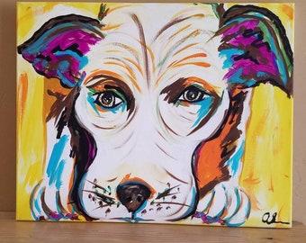 "Dog Painting ""Sniffing Dog"""