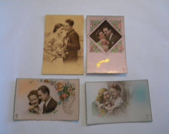 French Postcards - 1930's - Set of 4