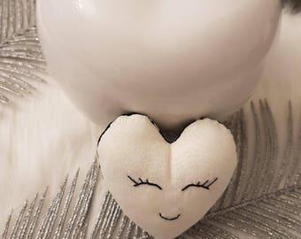 Small heart cat cats head fabrics!