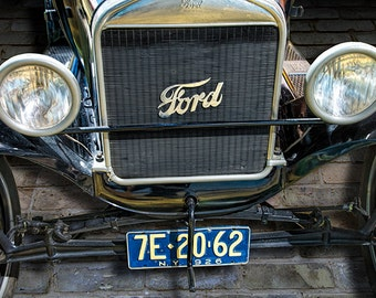 Vintage Ford Model T Car Front End View No.3931 A Fine Art Historical Automobile Photograph