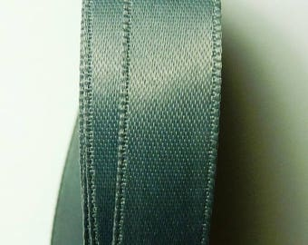 By the yard grey 1.33 b 13 mm satin ribbon
