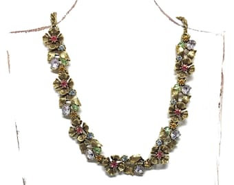 Vintage Statement Necklace for the Bride by Lisner c1960's