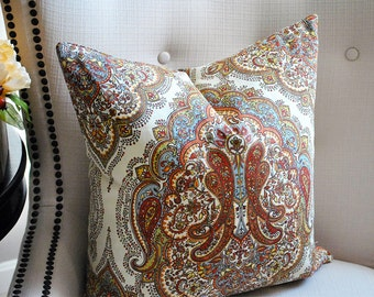 Throw pillow covers, pillow,  Medallion Pillow cover, Throw Pillows,  Decorative pillows, pillow cover 18 x 18, pillow cover 20 x 20