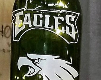 Any Pro football team lighted wine bottle