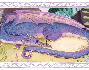 Sleeping Dragon Print
