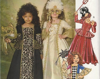 Costume Dress Pattern Period Gown Uncut Girls Size 2 - 5 Butterick 182 BP182 Easy