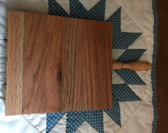 Small Cutting Board with Handle - Solid Oak