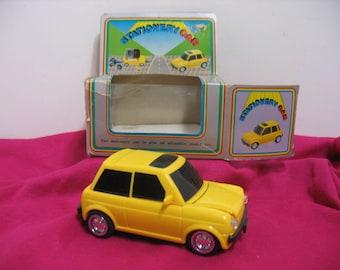 Yellow Stationary Car, Desk Organizer Automobile in Box, Office Pencil Paper Siccors etc. Holder Teacher