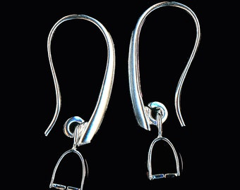 Silver Euro Style Ear Wire Pair