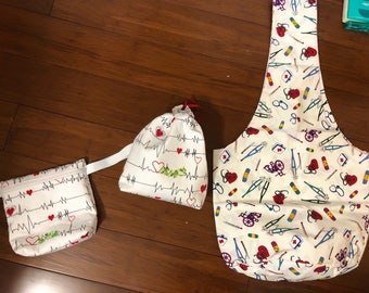Medical themed tote three in this set