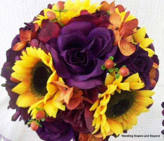 Fall Wedding Flowers List: Fall Bridal Bouquet Wedding Bouquets Silk Wedding Flower