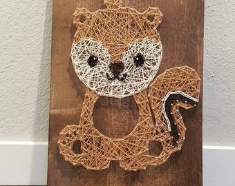String Art Woodland Squirrel