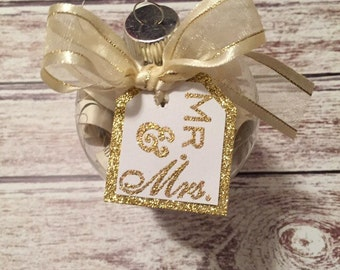 Personalized Wedding Invitation Ornament for bride and groom wedding gift