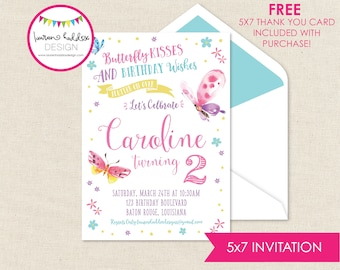 Butterfly Birthday, Butterfly Birthday Invitation, Butterfly Invitations, Butterfly Birthday Decorations, Lauren Haddox Designs