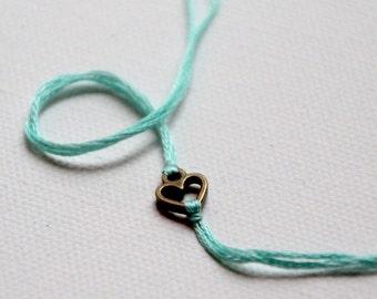 personalized valentines day gift friendship bracelet bronze heart wish bracelet custom jewelry mother daughter valentine wishlet under 10