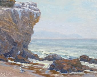 El Matador Morning, Seascape Painting, California Plein Air Impressionism