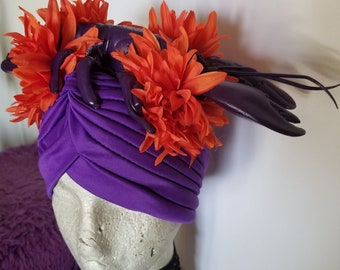 Lobster, Rock Lobster, Lobster turban, Turban, Seafood, Lobsterfest, Sealife, B52s, Pinup, Tiki, Tropical headband