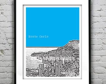 Monte Carlo Poster  Art Print Monaco Europe