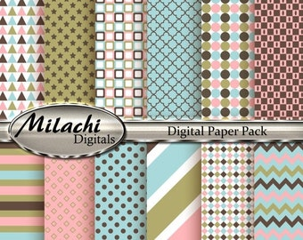 60% OFF SALE Baby Shower Digital Paper Pack - Commercial Use - Instant Download - M46