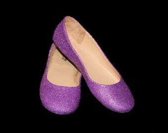 Wedding shoes lavender purple wedding shoes Purple shoes purple flats purple flat shoes bridal shoes lavender shoes custom shoes