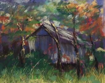 Custom pastel landscape drawing